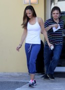 *HQ ADDS* Minka Kelly - heading to a police training center in Miami, February 23, 2011