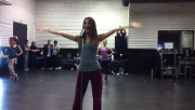 """Victoria Justice -Rehearsal for """"Beggin' on Your Knees"""" Single 720P- *Tight sweats/Tanktop*"""