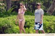 Hilary Swank in a Pink Bikini  8-12-10