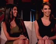 Kim & Kourtney Kardashian on 'Lopez Tonight' show - Aug 24, not HQ